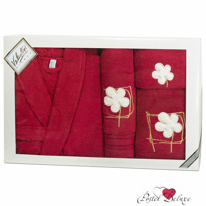 Сауны, бани и оборудование Valentini Халат Flower Цвет: Бордо (L) сауны бани и оборудование valentini набор для сауны fashion цвет песочный