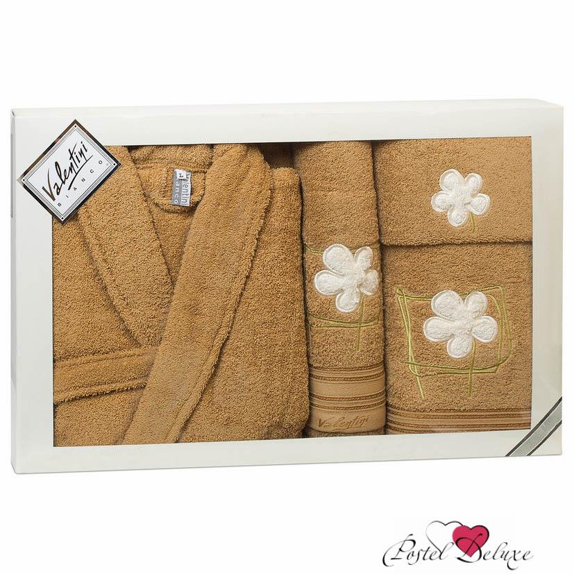 Сауны, бани и оборудование Valentini Халат Flower Цвет: Песочный (L) сауны бани и оборудование valentini набор для сауны flower цвет розовый