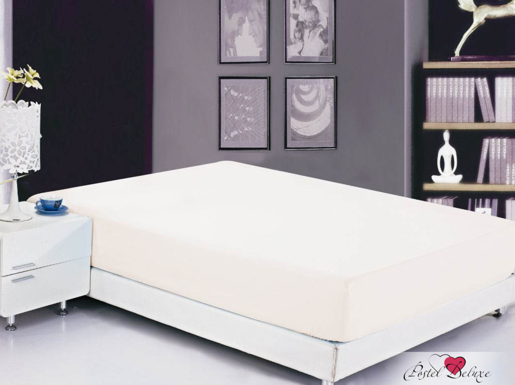 Простыни Valtery Простыня на резинке Bobbi Цвет: Белый (90х200 см)