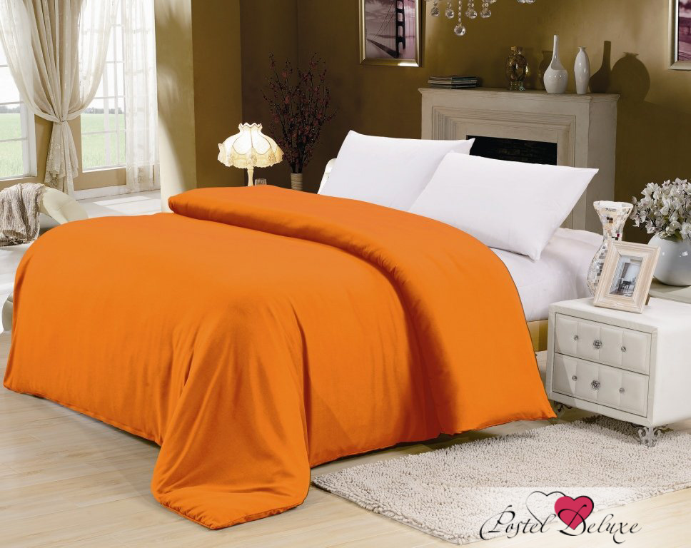где купить Пододеяльники Valtery Пододеяльник Liona Цвет: Оранжевый (180х215 см) по лучшей цене