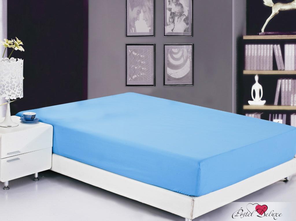 Простыни Valtery Простыня на резинке Claud Цвет: Голубой