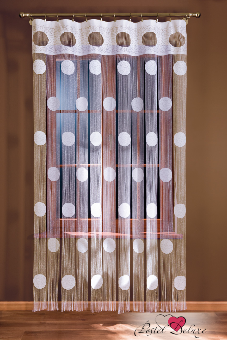 Шторы Wisan Нитяные шторы Цвет: Белый комплект штор для кухни wisan celina на ленте цвет белый оранжевый высота 180 см