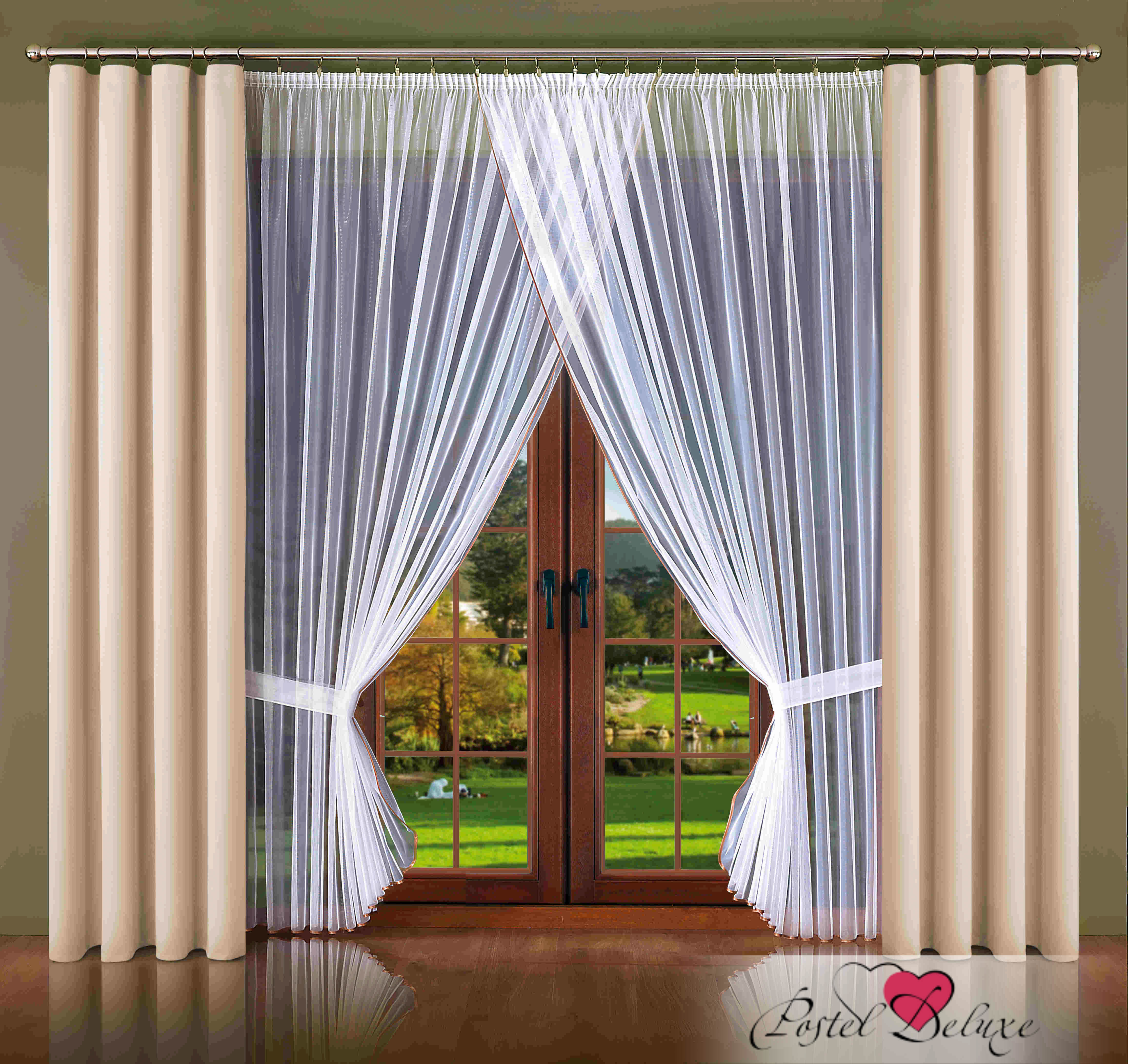 Шторы Wisan Классические шторы Melicent Цвет: Кремовый wisan wisan классические шторы melicent цвет кремовый