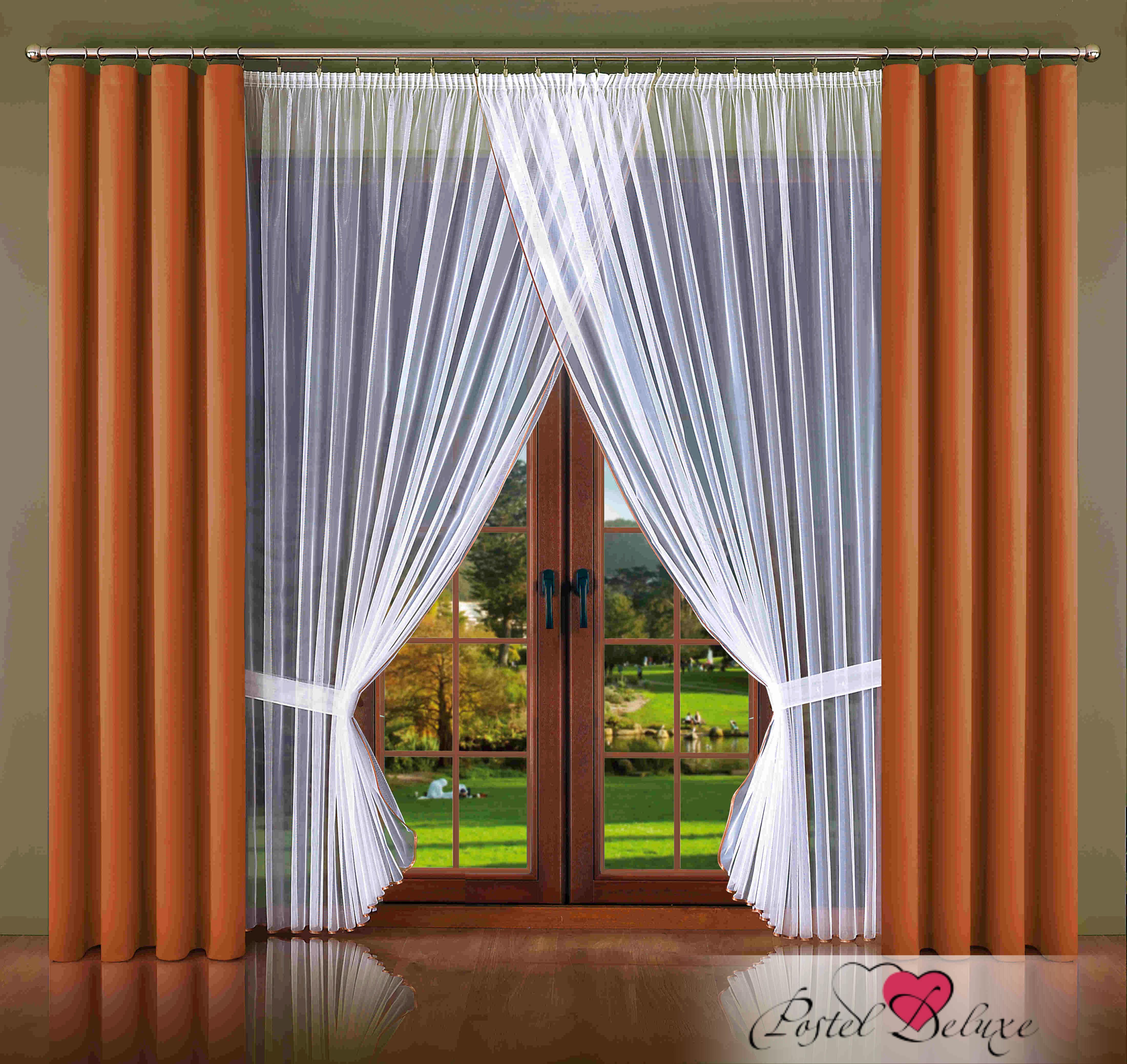 Шторы Wisan Классические шторы Aubrey Цвет: Шоколадный шторы tac классические шторы winx цвет персиковый 200x265 см