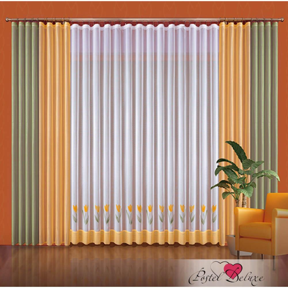Шторы Wisan Классические шторы Klaudia Цвет: Зеленый-Желтый шторы tac классические шторы winx цвет персиковый 200x265 см