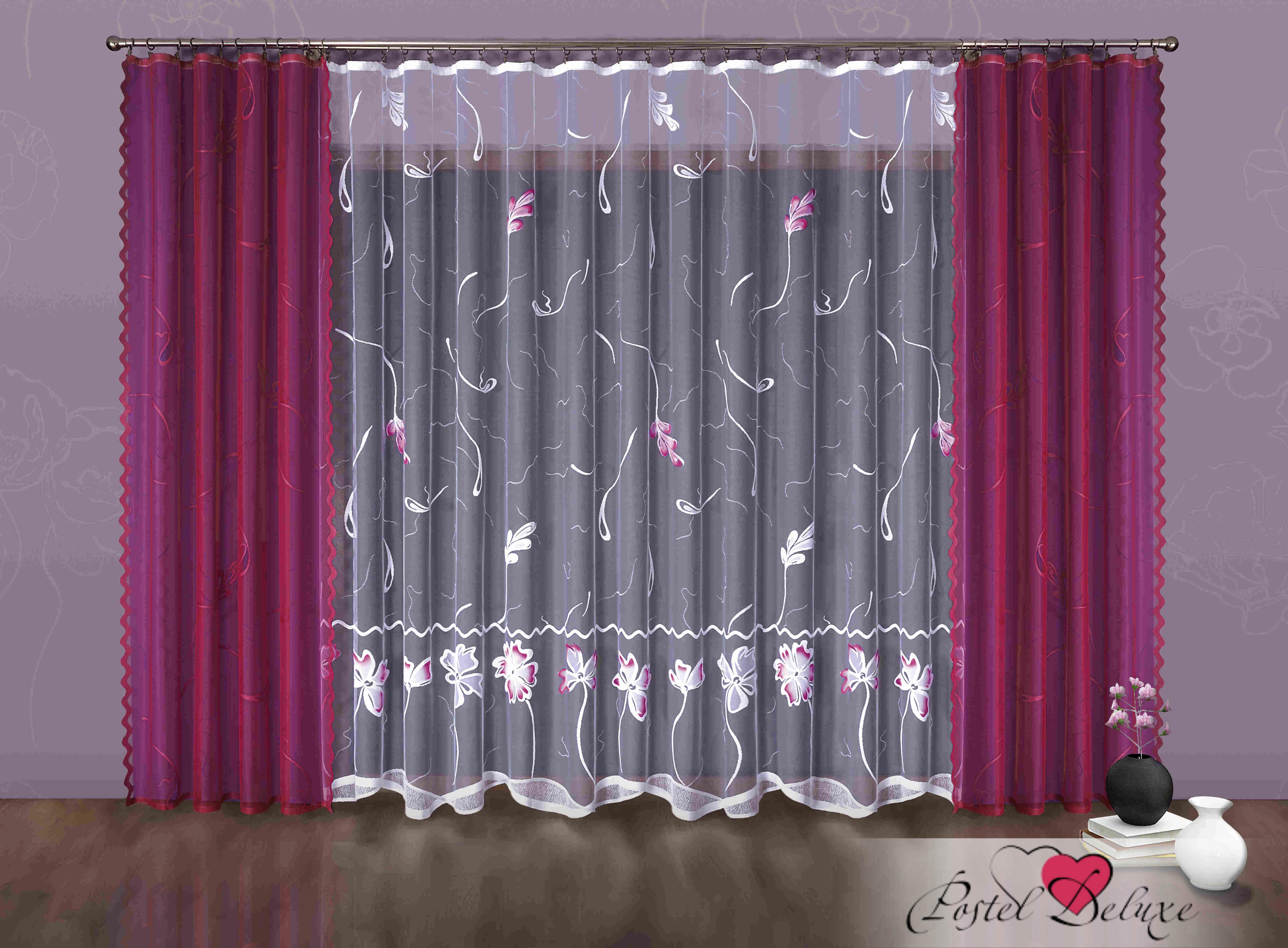 Шторы Wisan Классические шторы Darian Цвет: Малиновый шторы tac классические шторы winx цвет персиковый 200x265 см