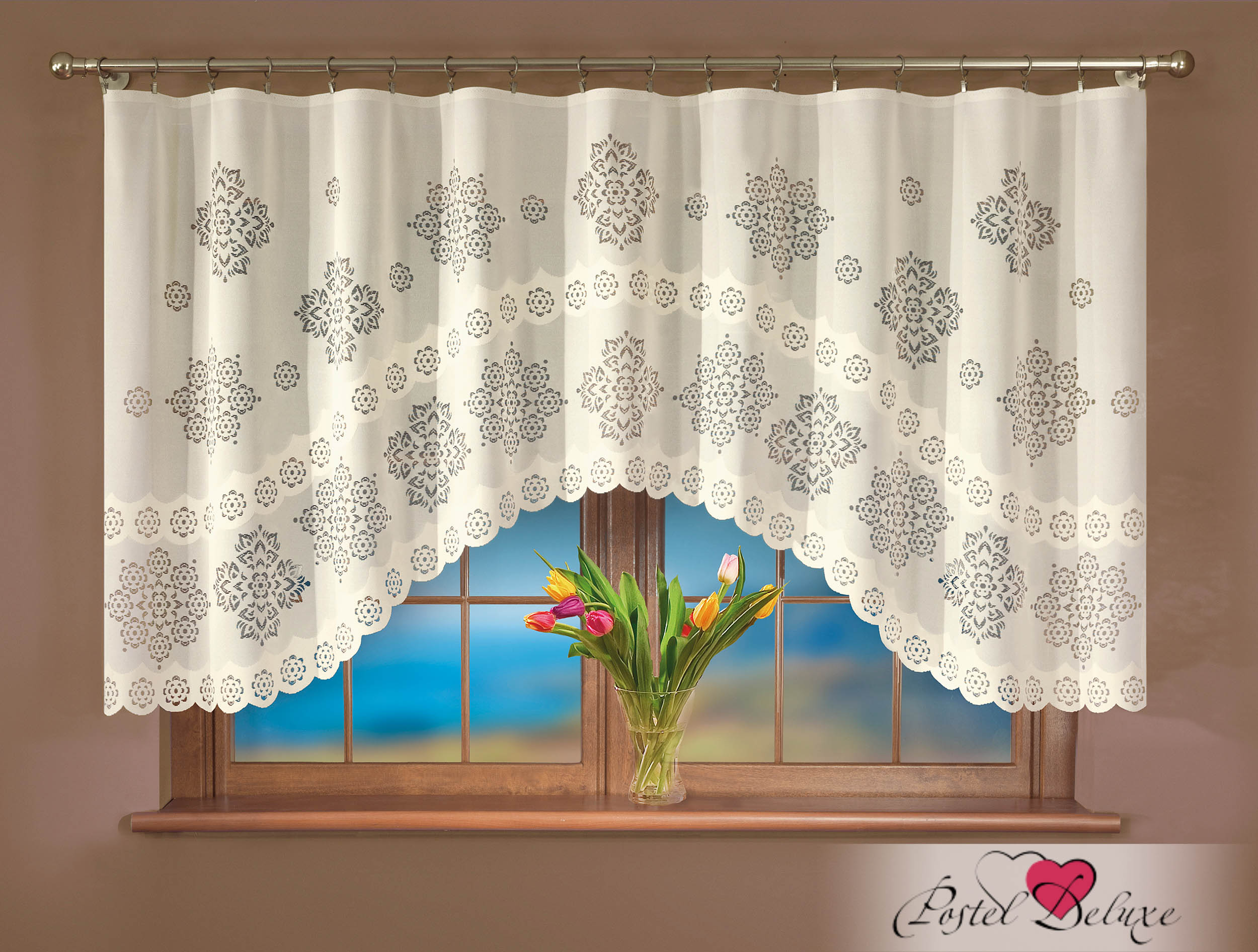 Шторы Wisan Классические шторы Karina комплект штор для кухни wisan celina на ленте цвет белый оранжевый высота 180 см
