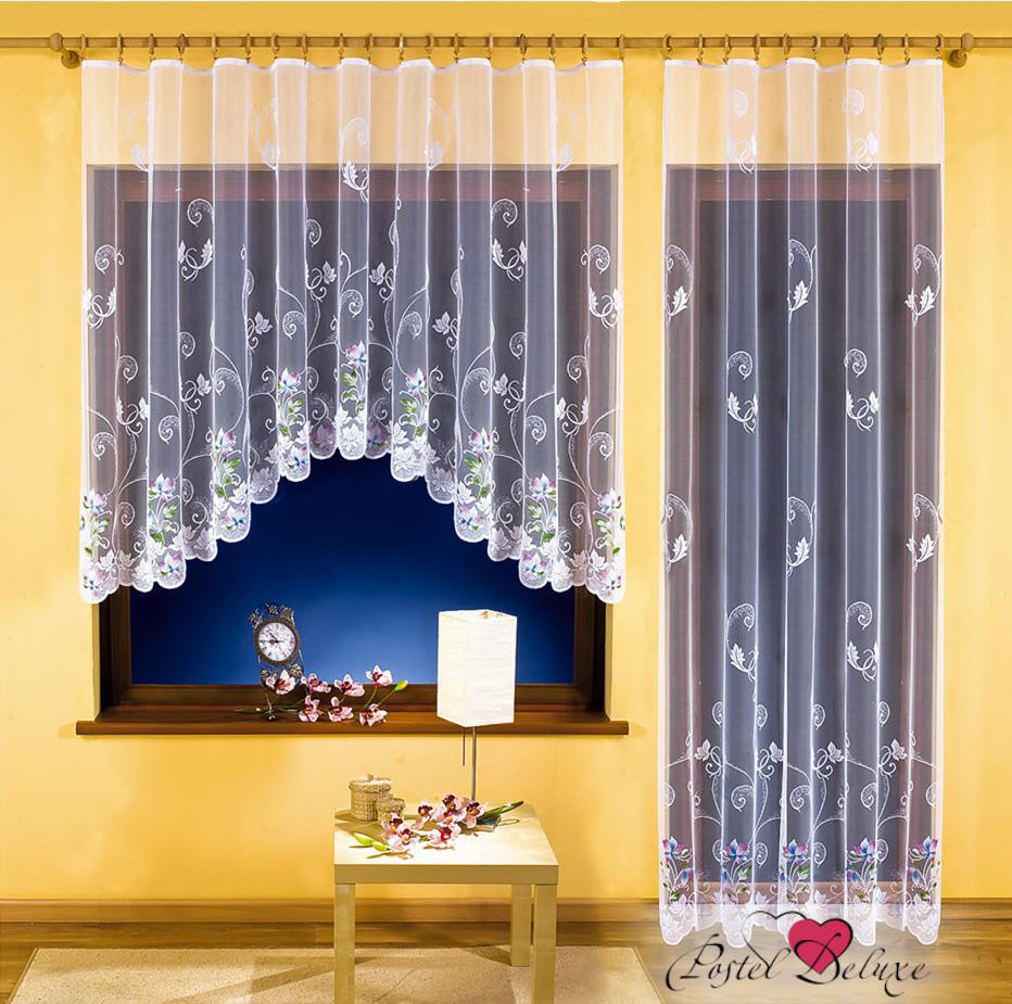Шторы Wisan Классические шторы Merle Цвет: Белый комплект штор для кухни wisan celina на ленте цвет белый оранжевый высота 180 см