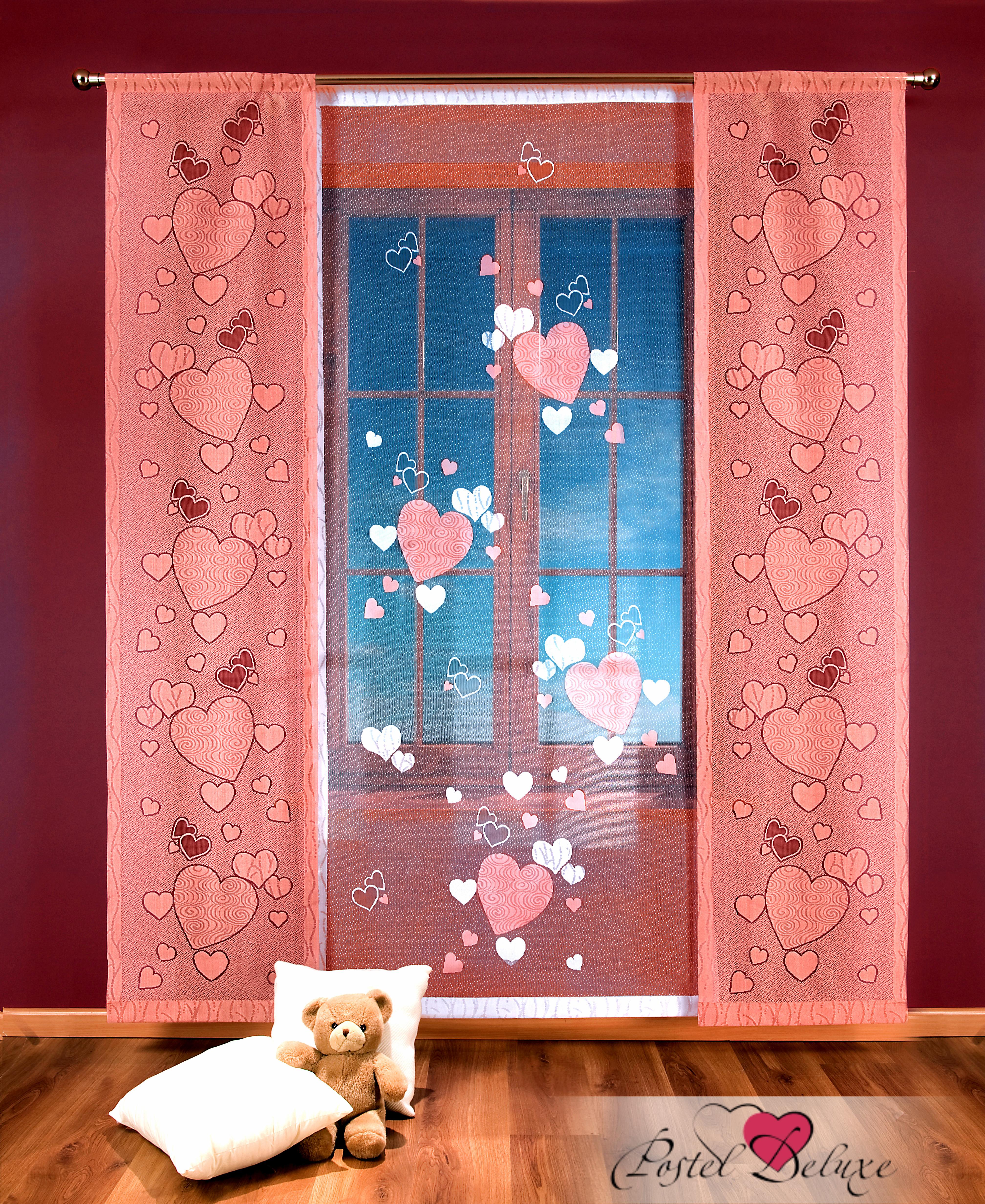 Шторы Wisan Японские шторы Сердечки Цвет: Розовый/Белый wisan wisan японские шторы concord