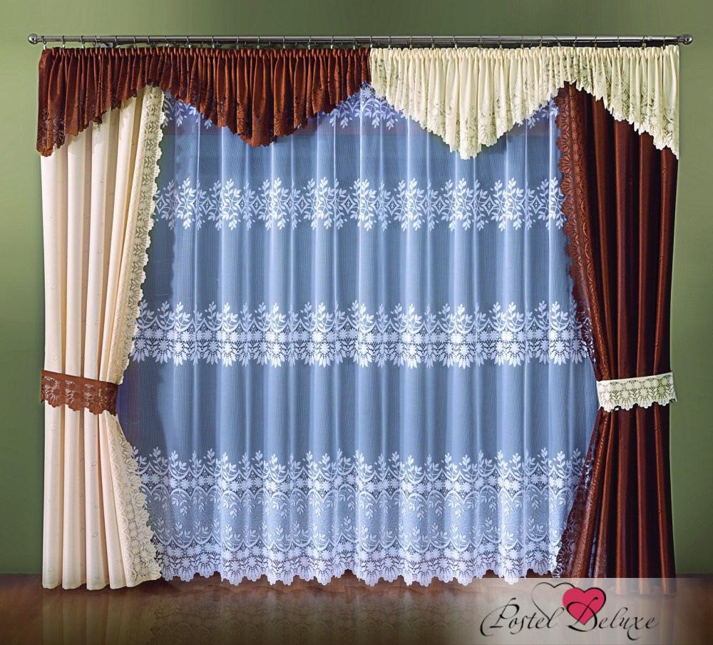 Шторы Wisan Шторы с ламбрекеном Clement Цвет: Кремовый / Коричневый шторы wisan шторы с ламбрекеном caprice цвет льняной