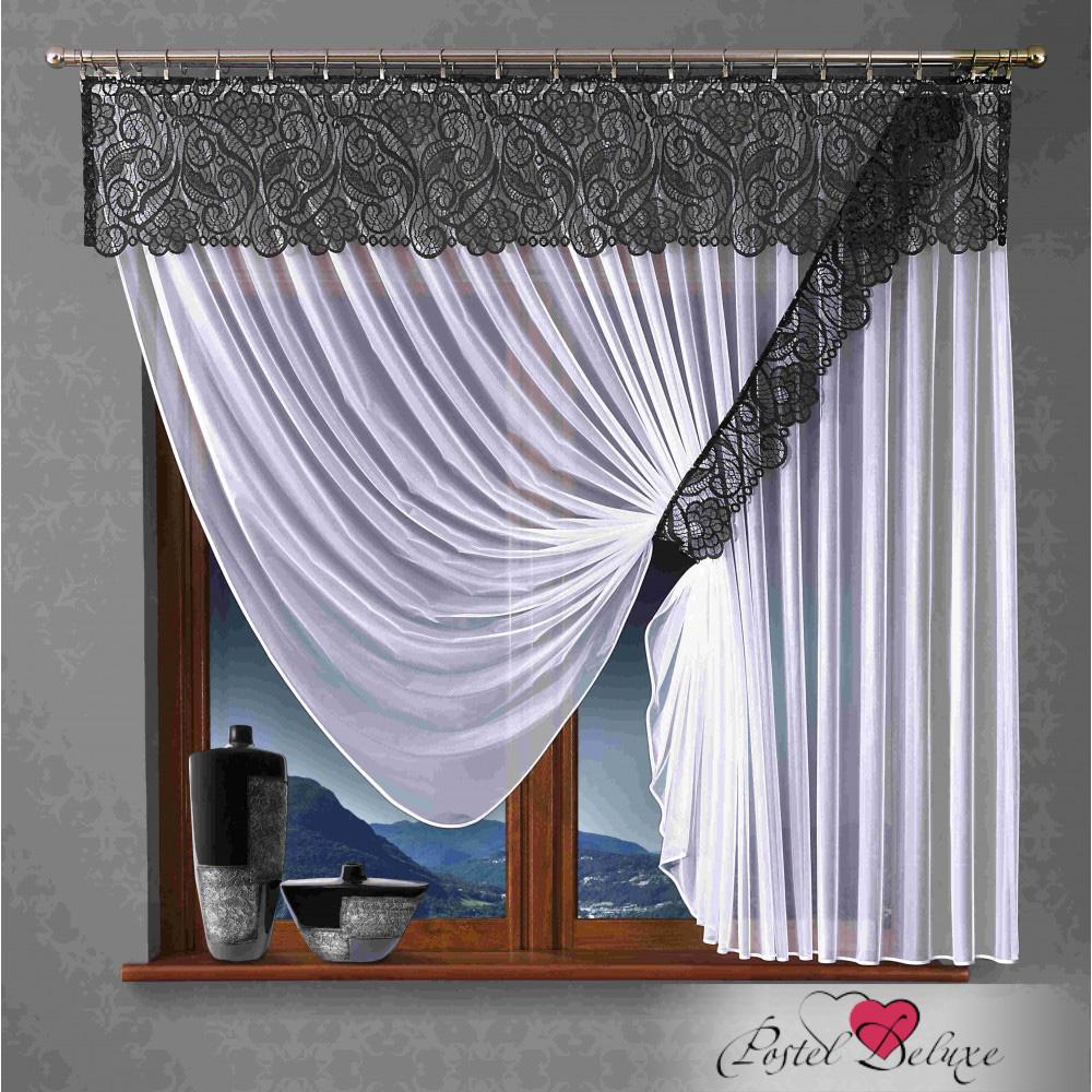 Шторы Wisan Шторы с ламбрекеном Jehosaphat Цвет: Черно-Белый шторы wisan шторы с ламбрекеном kean