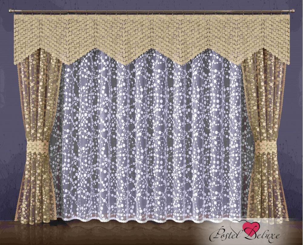 Шторы Wisan Шторы с ламбрекеном Harrie Цвет: Бежевый шторы wisan шторы с ламбрекеном caprice цвет льняной