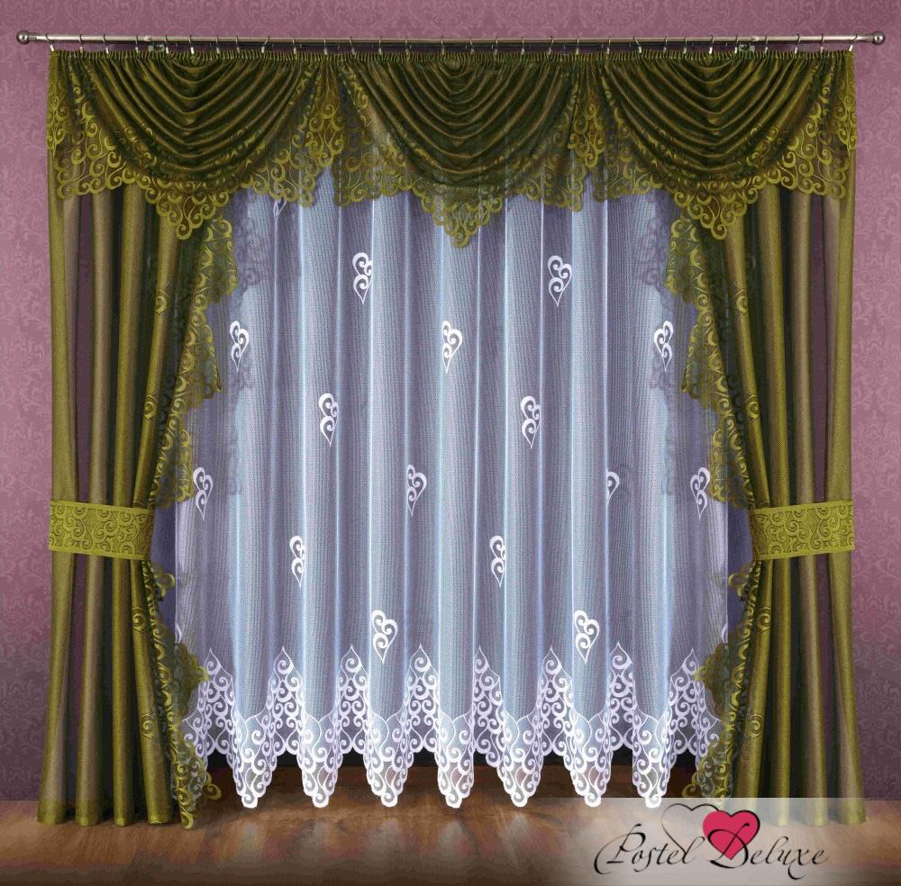 Шторы Wisan Шторы с ламбрекеном Maurene Цвет: Темно-Оливковый шторы wisan шторы с ламбрекеном caprice цвет льняной