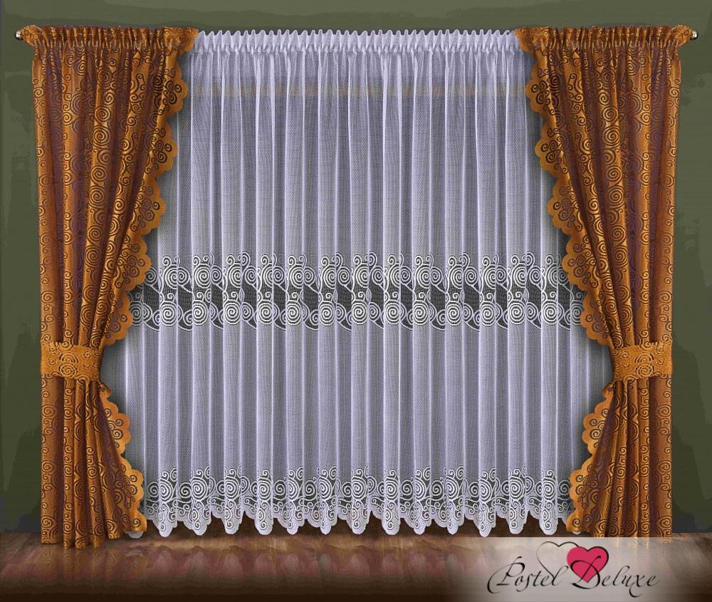 Шторы Wisan Классические шторы Irma Цвет: Коричнево-Золотой шторы tac классические шторы winx цвет персиковый 200x265 см