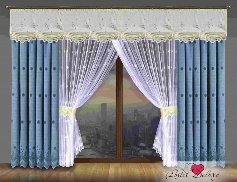 Шторы Wisan Шторы с ламбрекеном Deloris Цвет: Голубой шторы wisan шторы с ламбрекеном kean