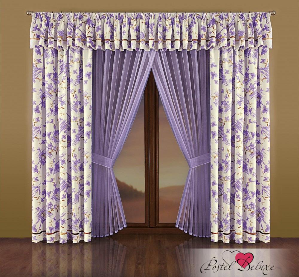 Шторы Wisan Шторы с ламбрекеном Dara Цвет: Сиреневый шторы wisan шторы с ламбрекеном caprice цвет льняной