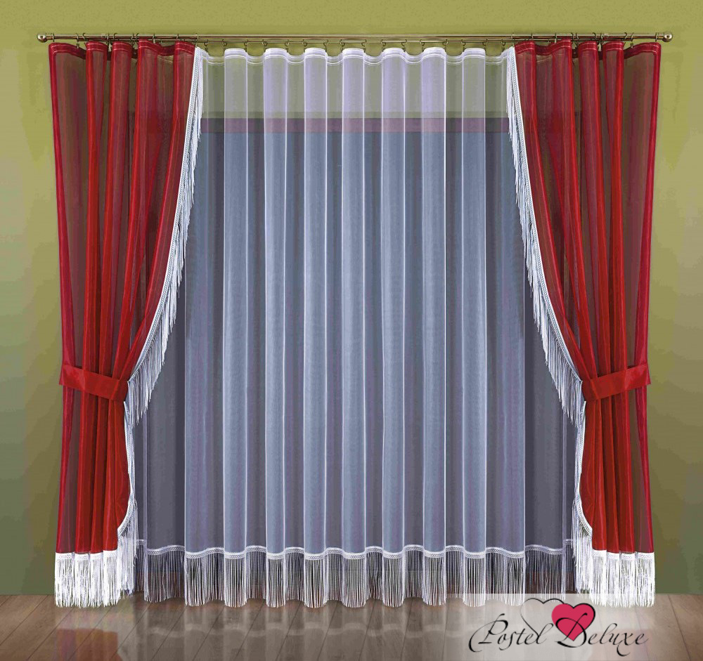Шторы Wisan Классические шторы Laverne Цвет: Бордовый шторы wisan классические шторы гражиана цвет золотистый