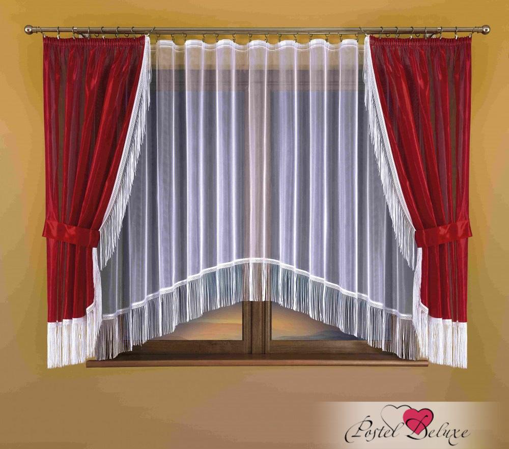 Шторы Wisan Классические шторы Carbry Цвет: Бордовый шторы tac классические шторы winx цвет персиковый 200x265 см