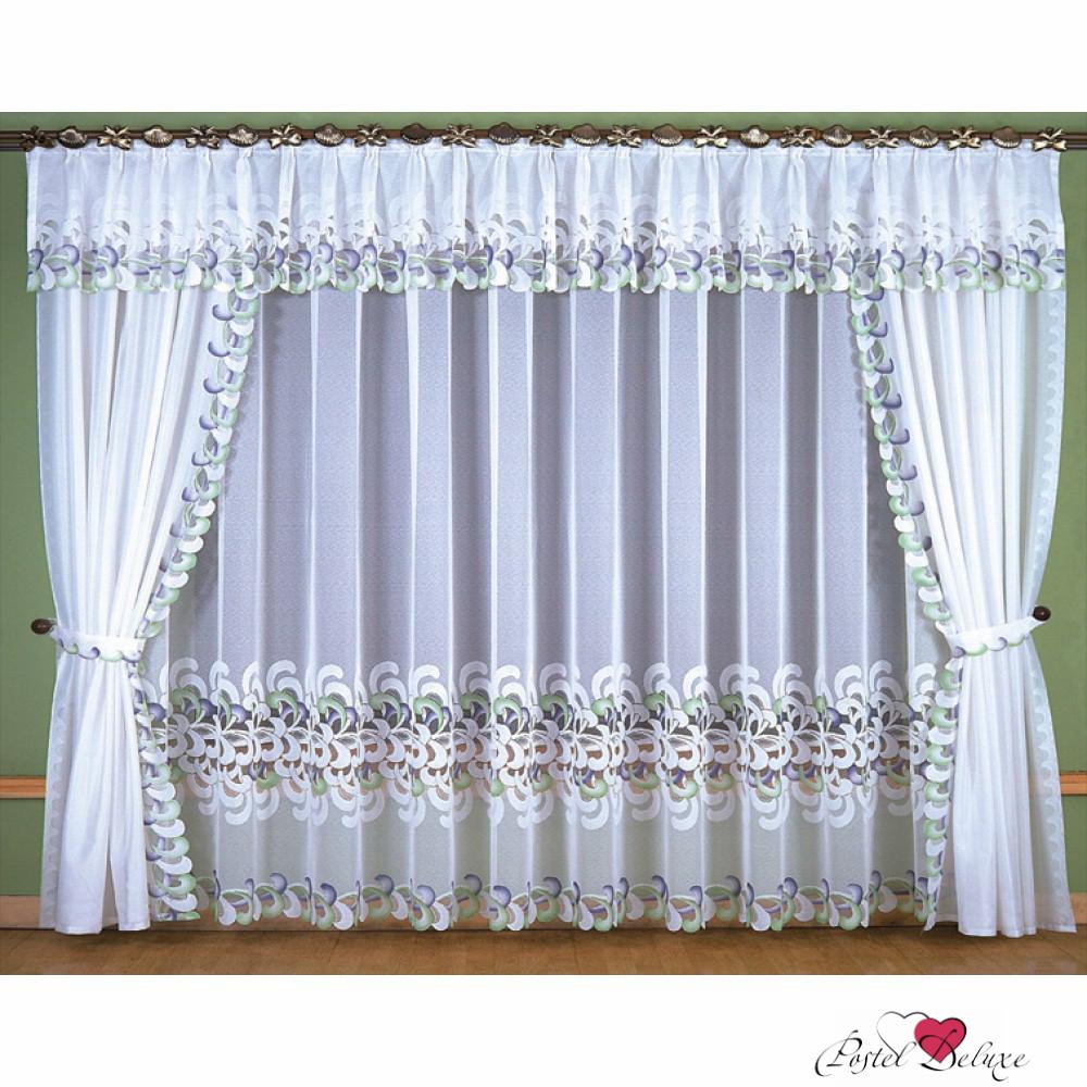 Шторы Wisan Шторы с ламбрекеном Carlotta Цвет: Белый шторы wisan шторы с ламбрекеном caprice цвет льняной