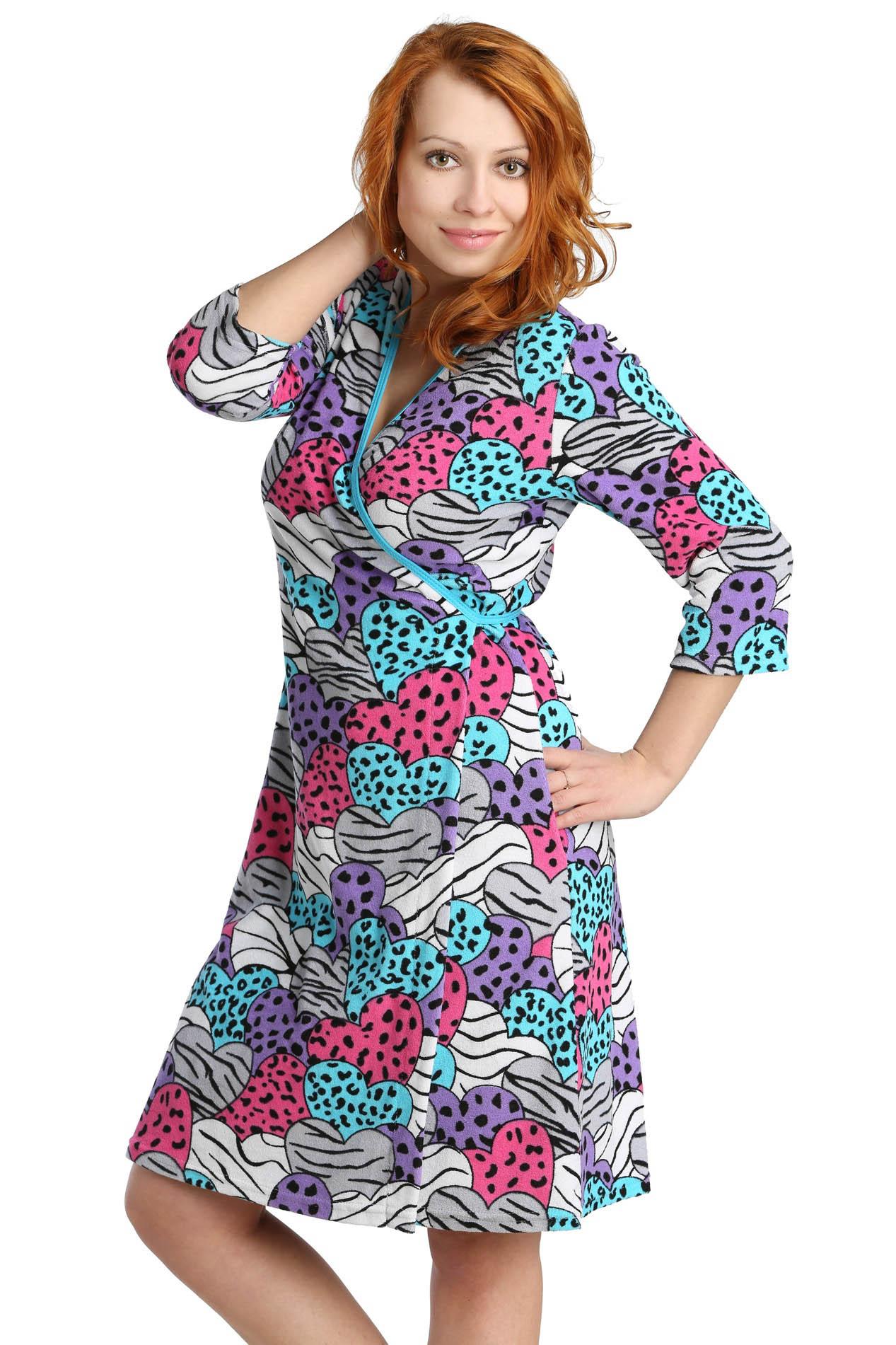 Домашние халаты ElenaTex Домашний халат Rosie Цвет: Голубой (xL) майка послеродовая nuova vita бесшовная цвет голубой 14972 размер xl 48 50