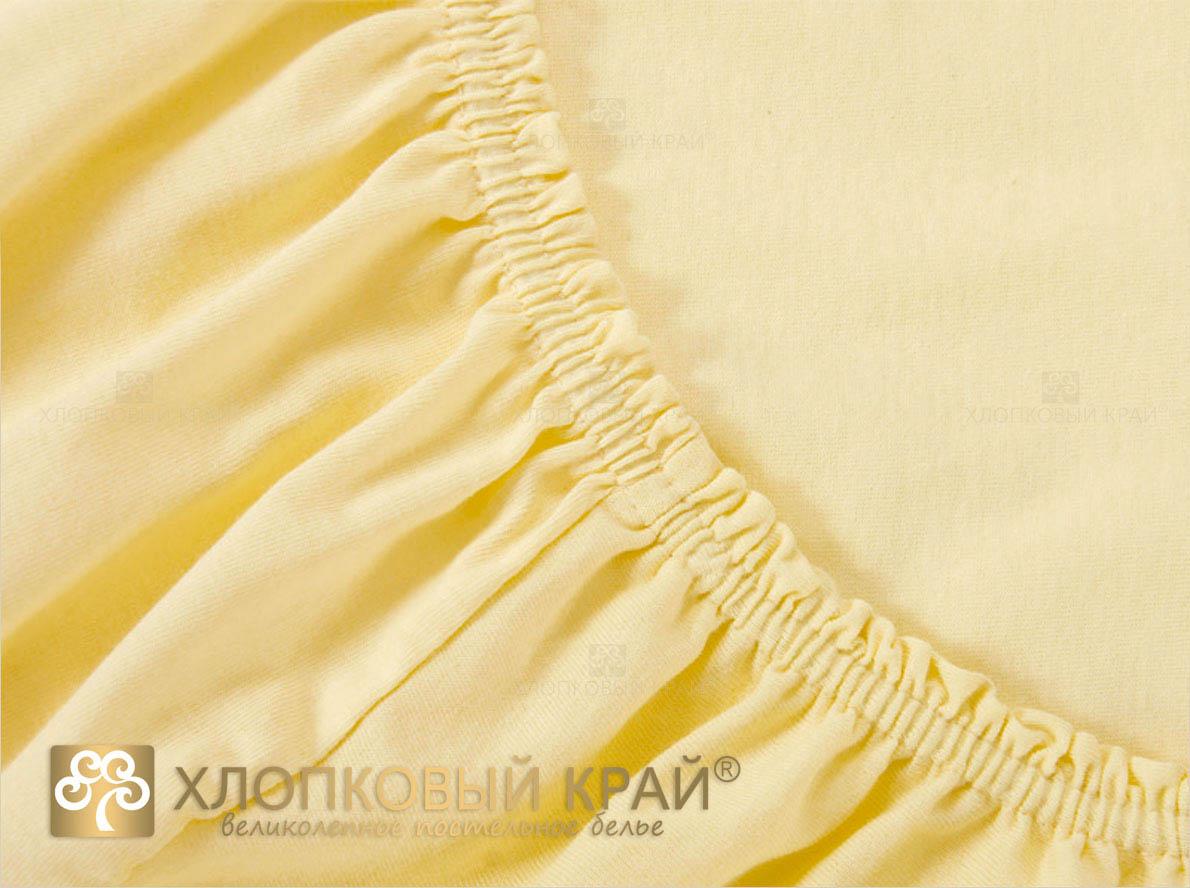 Простыни Хлопковый Край Простыня на резинке Mimoza Цвет: Желтый (120х200) простыня на резинке хлопковый край