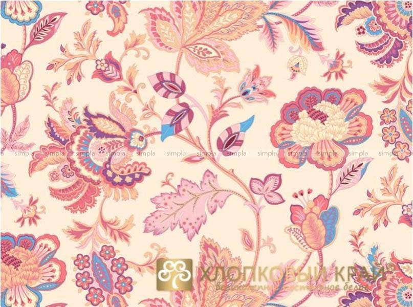 Постельное белье Хлопковый Край Постельное белье Жаклин Цвет: Брусника (1,5 спал.)