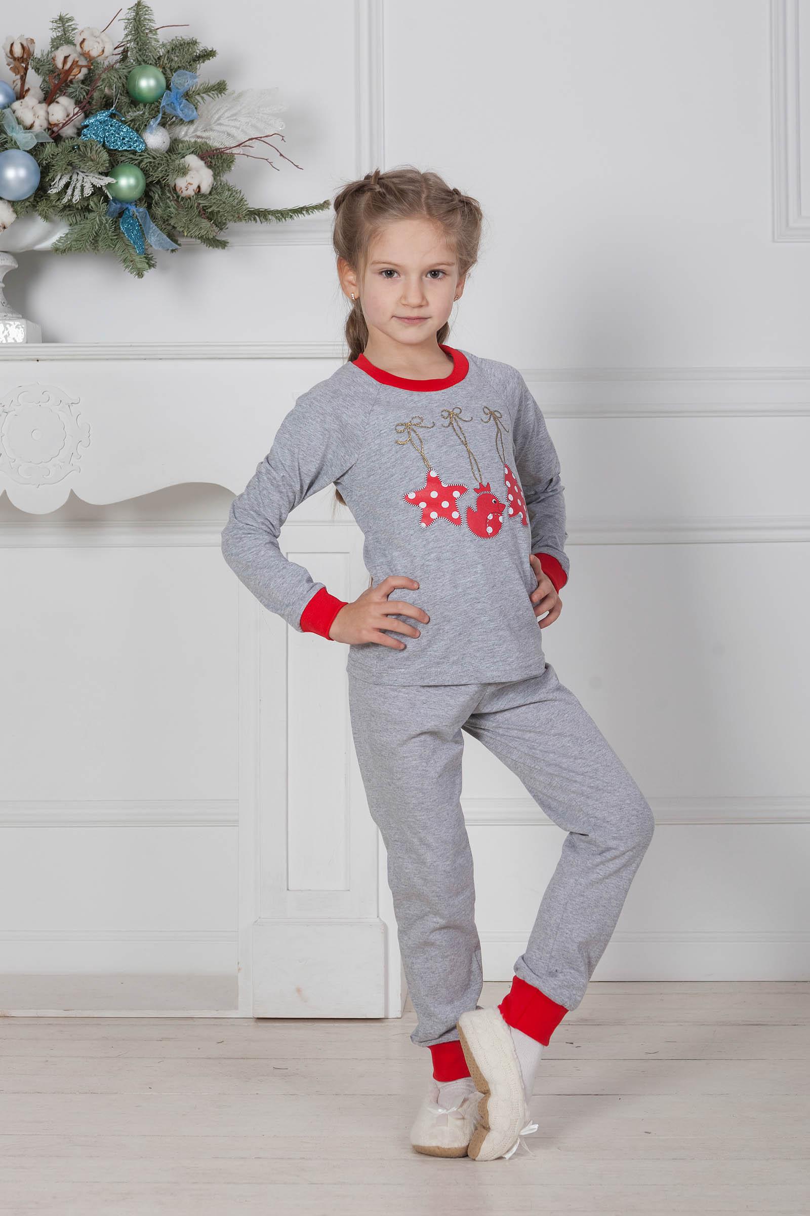 Детские пижамы Pastilla Детская пижама Зимнее Чудо Цвет: Серый (4-5 лет)