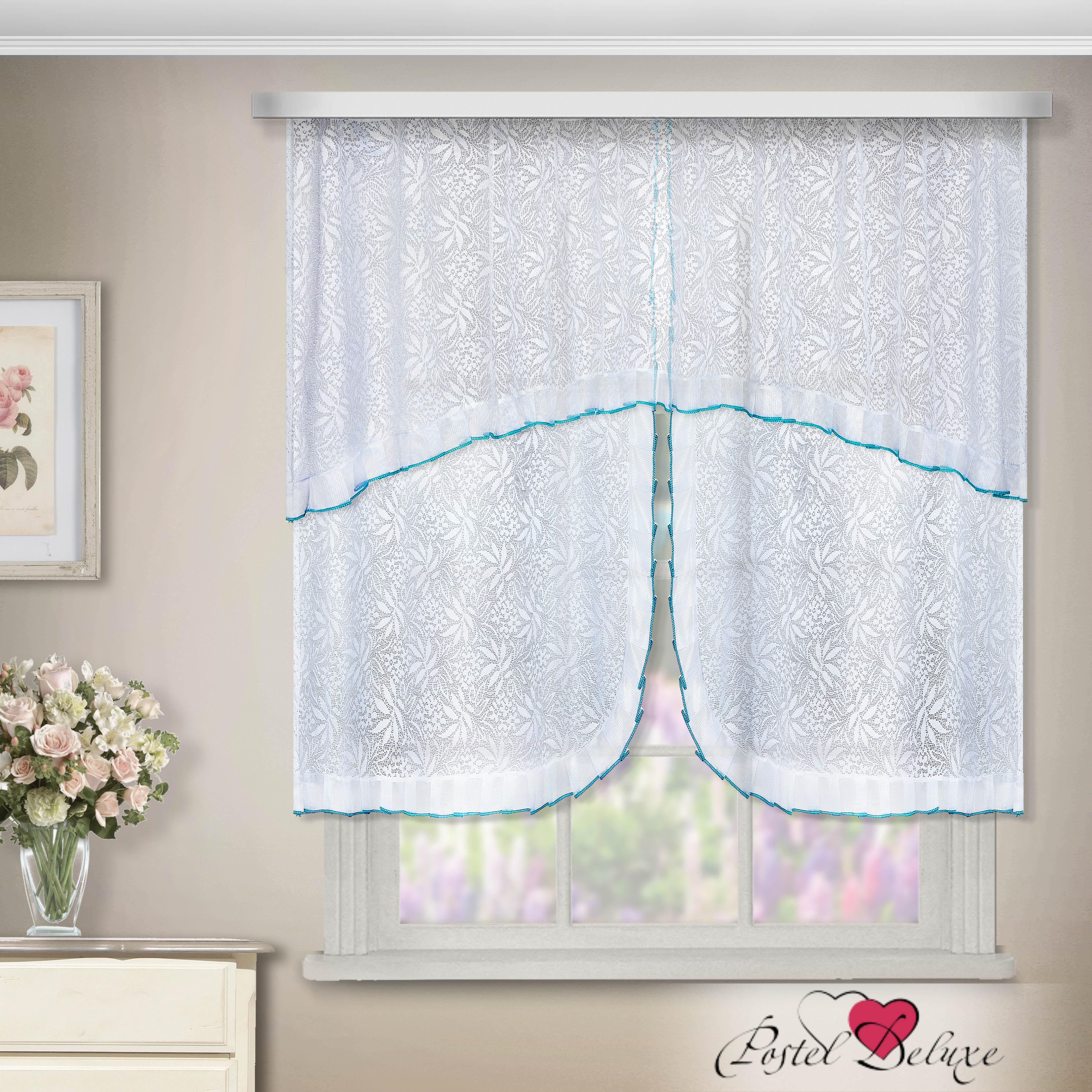 Шторы Zlata Korunka Шторы с ламбрекеном For Цвет: Белый-Голубой как тюль на окно