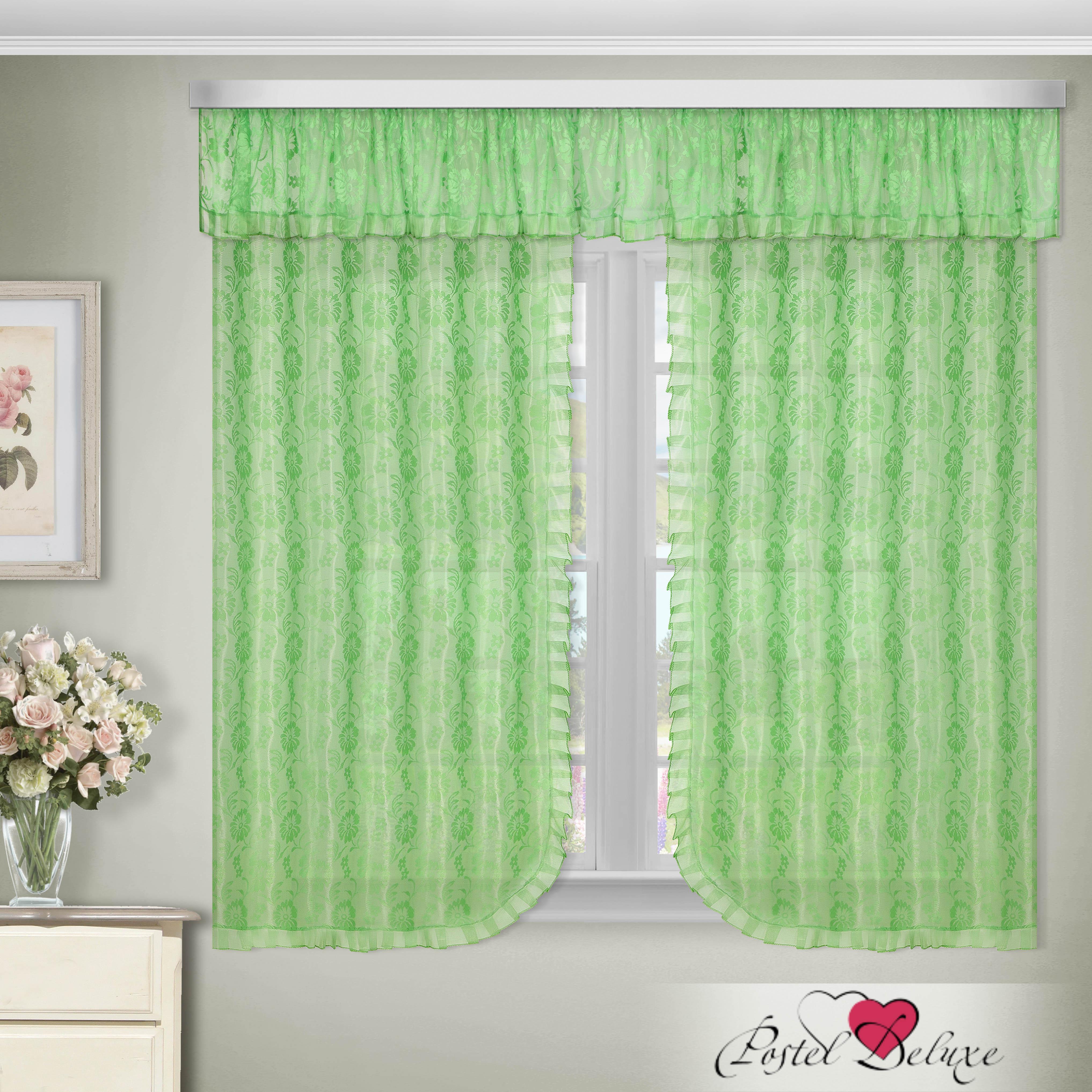 Шторы Zlata Korunka Шторы с ламбрекеном Palma Цвет: Зеленый как тюль на окно