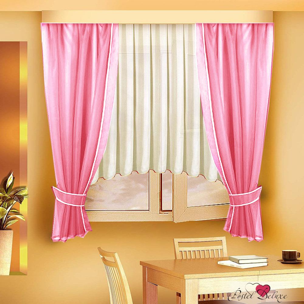 Шторы Zlata Korunka Классические шторы Kornelia Цвет: Розовый шторы tac классические шторы глянец цвет портьер розовый цвет тюля белый с бежевой полоской