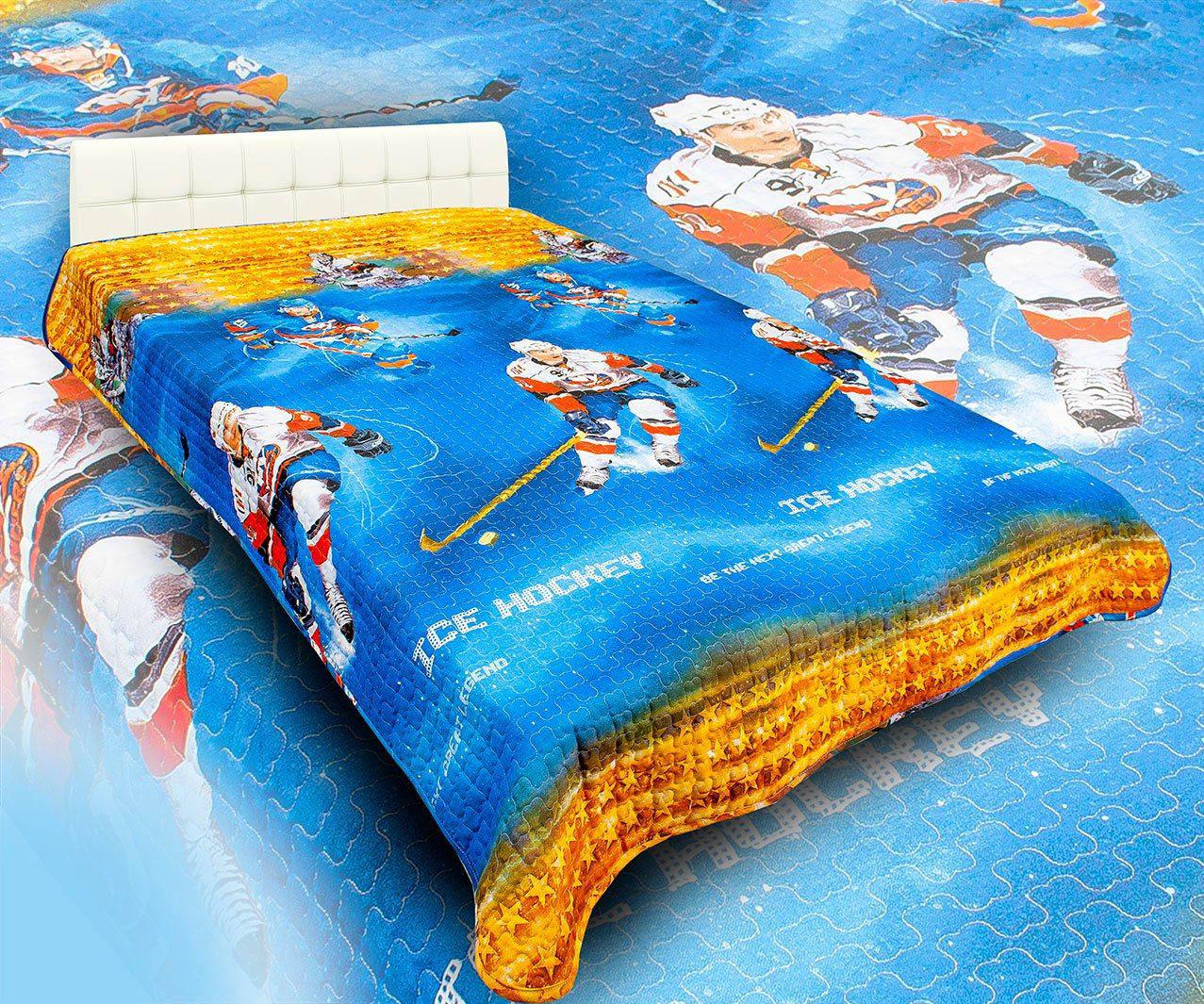 Детские покрывала, подушки, одеяла AlViTek Детское покрывало Звезды Хоккея (150х215 см) покрывало рафаэль поплин 150х215