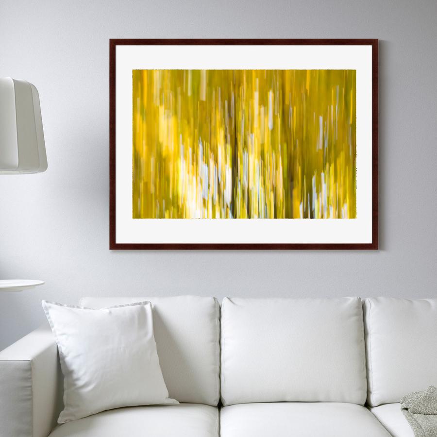 Купить Картины, постеры, гобелены, панно Картины в Квартиру, Картина Etude №1 (102х130 см), Россия, Желтый, Дерево, Стекло, Бумага