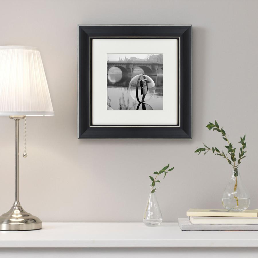 Купить Картины, постеры, гобелены, панно Картины в Квартиру, Картина On The Seine (35х35 см), Россия, Черно-белый, Полимер, Стекло, Текстиль, Бумага