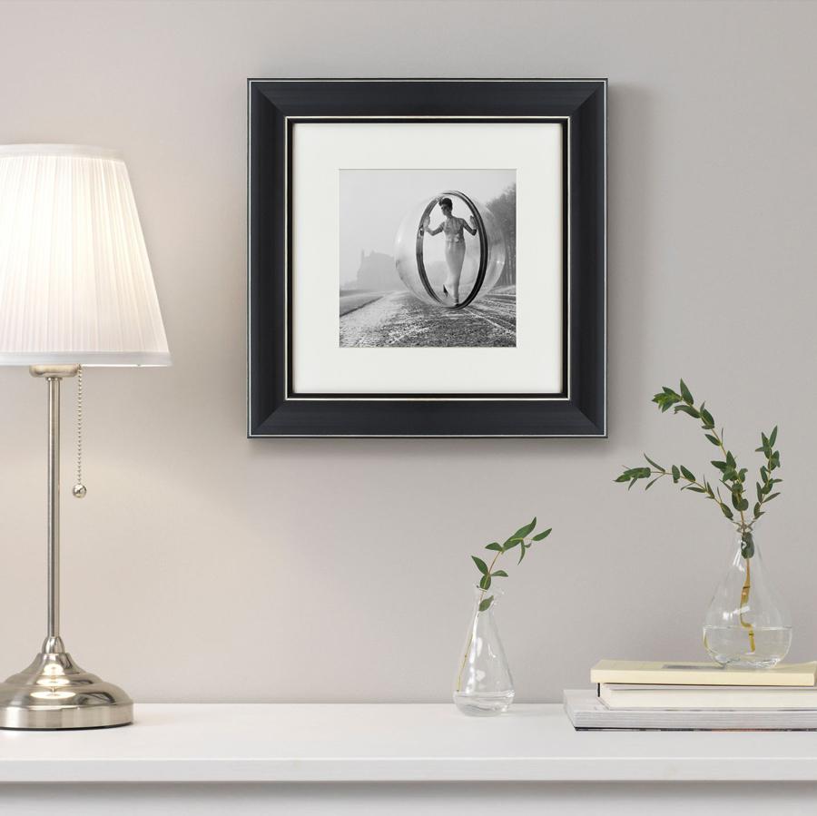 Купить Картины, постеры, гобелены, панно Картины в Квартиру, Картина On The Seine No.2 (35х35 см), Россия, Черно-белый, Полимер, Стекло, Текстиль, Бумага
