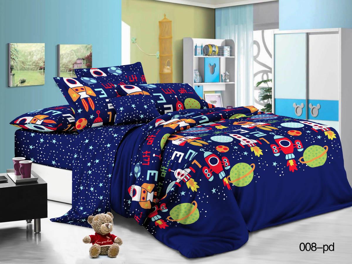 Купить Детское постельное белье Cleo, Детское Постельное белье Космики (145х215 см), Китай, Поплин