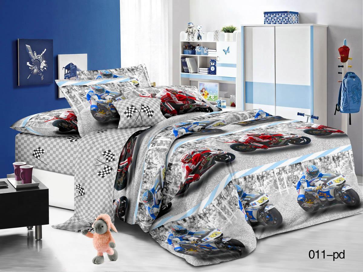 Купить Детское постельное белье Cleo, Детское Постельное белье Мотоспорт (145х215 см), Китай, Поплин