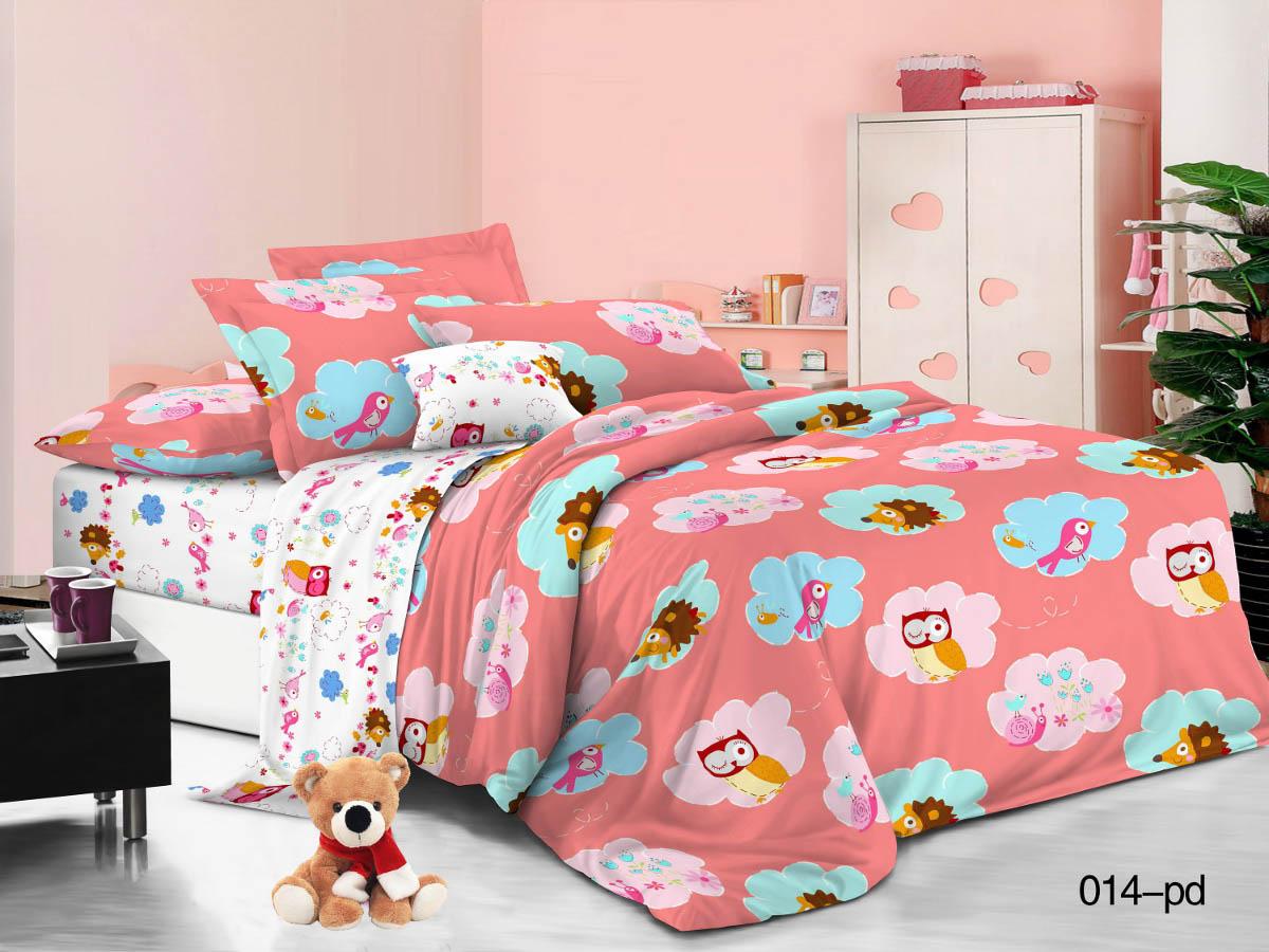 Купить Детское постельное белье Cleo, Детское Постельное белье Сладкий Сон (145х215 см), Китай, Белый, Розовый, Поплин