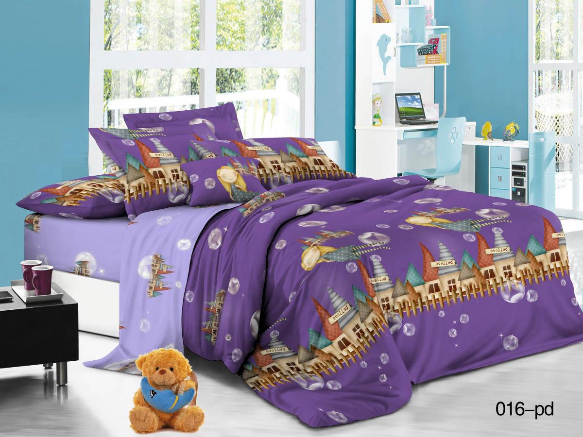 Купить Детское постельное белье Cleo, Детское Постельное белье Волшебный Замок (145х215 см), Китай, Сиреневый, Фиолетовый, Поплин