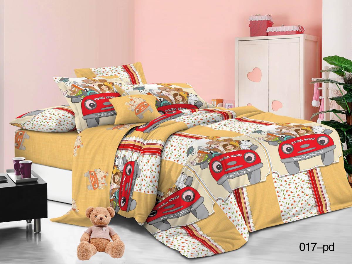 Купить Детское постельное белье Cleo, Детское Постельное белье Веселая Компания (145х215 см), Китай, Желтый, Красный, Оранжевый, Поплин