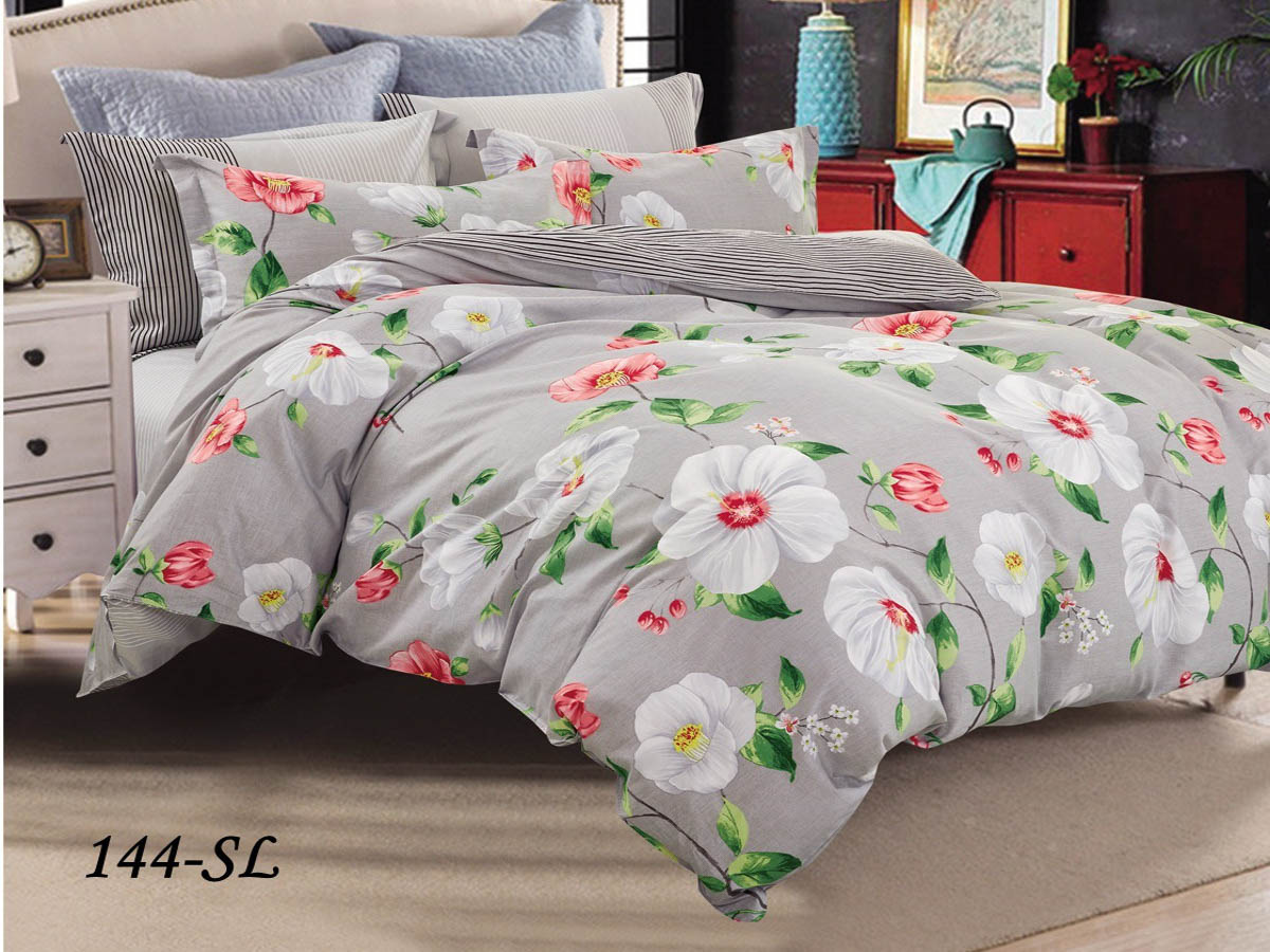 Купить Комплекты постельного белья Cleo, Постельное белье Ericka (2 сп. евро), Китай, Хлопковый сатин