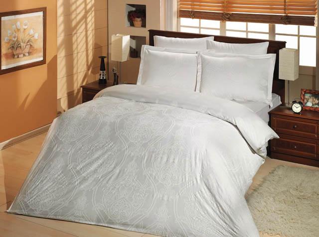 Купить Комплекты постельного белья Altinbasak, Постельное белье Scarlet Цвет: Белый (2 сп. евро), Турция, Хлопковый сатин
