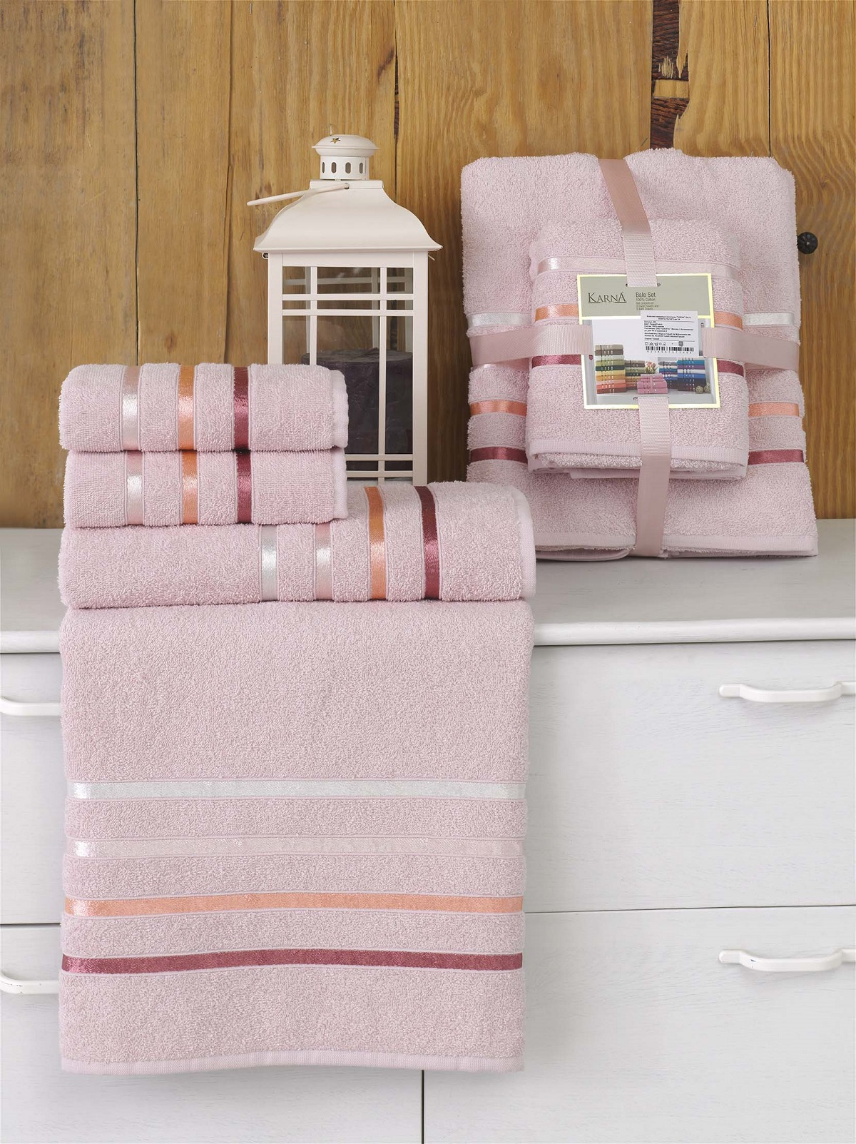 Полотенца Karna Полотенце Bale Цвет: Светло-Розовый (Набор) полотенца karna полотенце bale цвет розовый набор