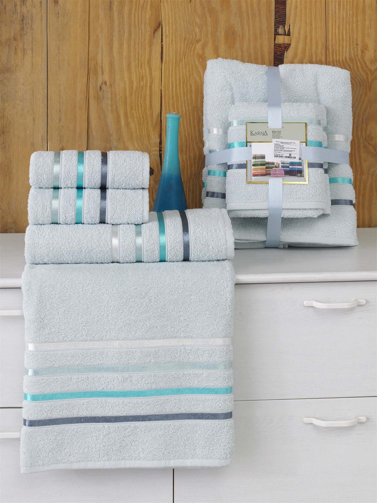 Полотенца Karna Полотенце Bale Цвет: Ментол (Набор) полотенца karna полотенце bale цвет розовый набор