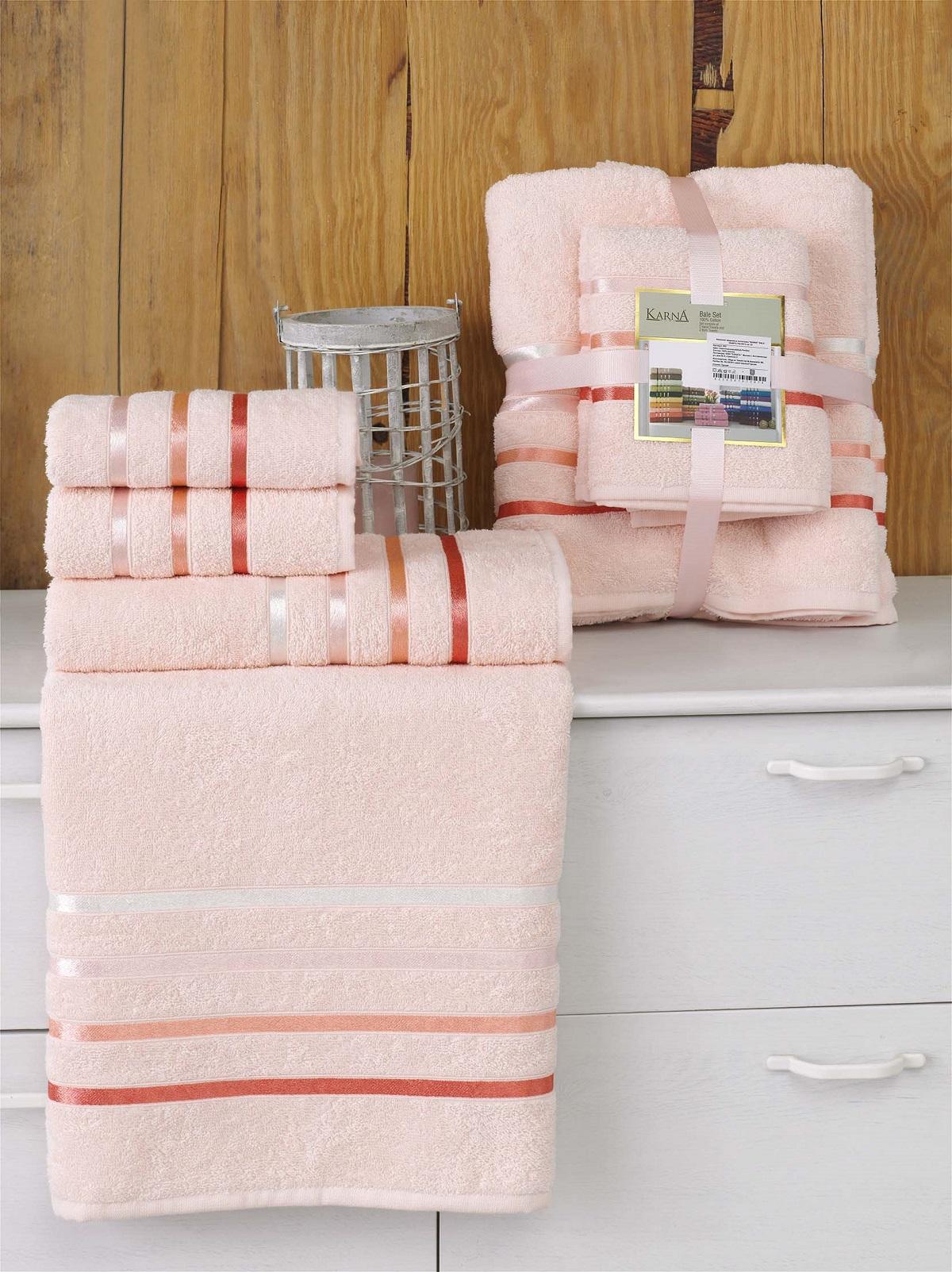 Полотенца Karna Полотенце Bale Цвет: Пудра (Набор) полотенца karna полотенце bale цвет розовый набор