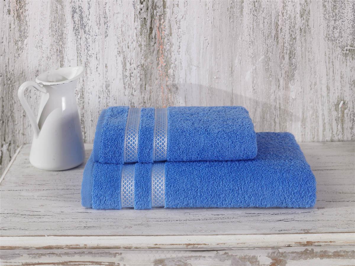 Купить Полотенца Karna, Полотенце Petek Цвет: Голубой (50х100 см), Турция, Махра