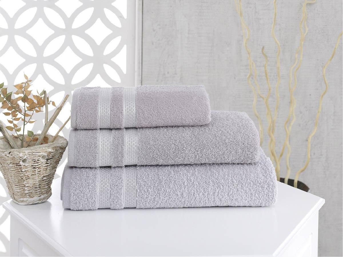 Купить Полотенца Karna, Полотенце Petek Цвет: Серый (50х100 см), Турция, Махра