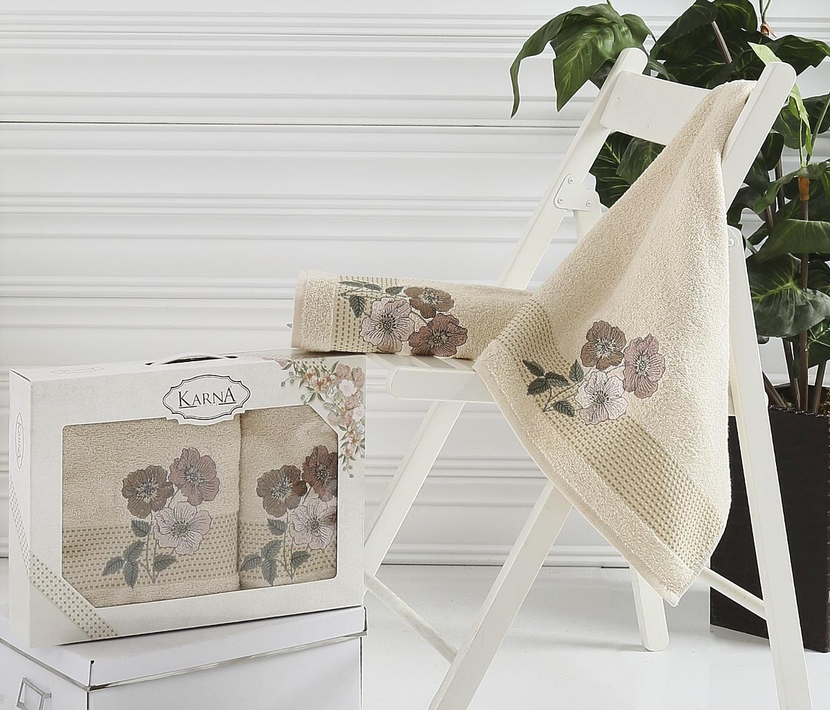 Полотенца Karna Полотенце Sandy Цвет: Бежевый (Набор)