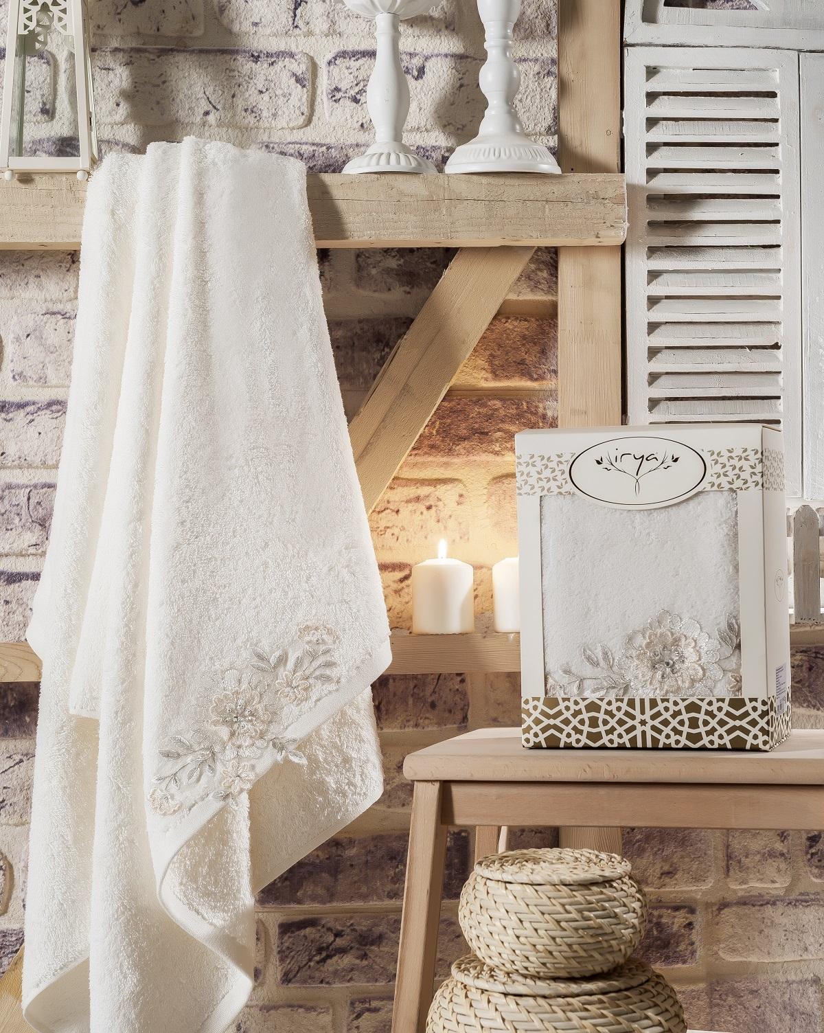 Купить Полотенца IRYA, Полотенце Delicia Цвет: Молочный (85х150 см), Турция, Белый, Махра