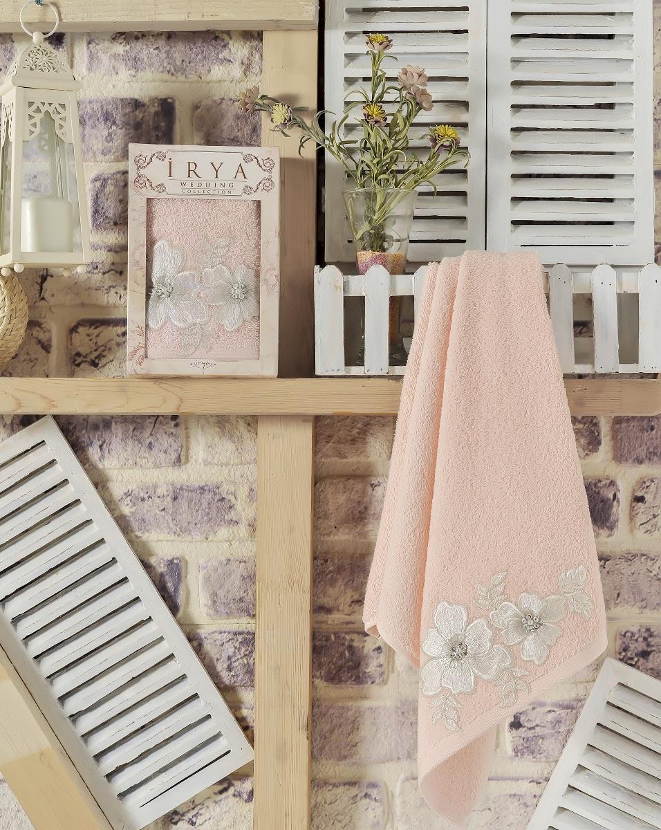 Купить Полотенца IRYA, Полотенце Pearly Цвет: Абрикосовый (50х90 см), Турция, Персиковый, Махра