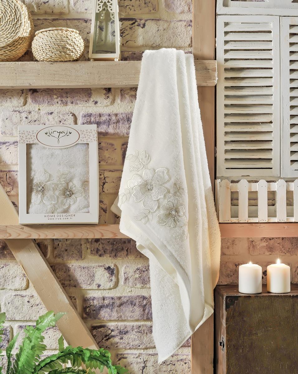 Купить Полотенца IRYA, Полотенце Pearly Цвет: Молочный (70х130 см), Турция, Бежевый, Махра